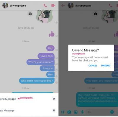 Facebook Messenger Unsend Option Possibly Being Developed