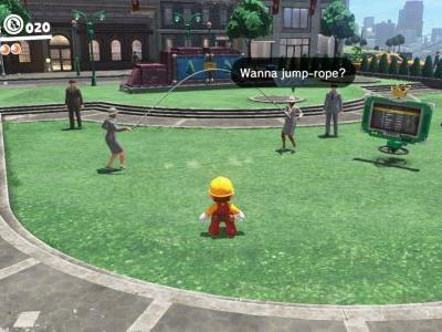 A new hilarious method for beating the jump rope challenge in Super Mario Odyssey