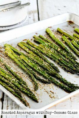 Roasted Asparagus with Soy-Sesame Glaze