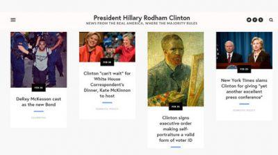 'President Clinton' website riles up the right, gives liberals glimpse of what could have been