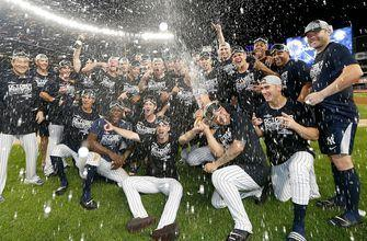 Yankees power their way to AL East title