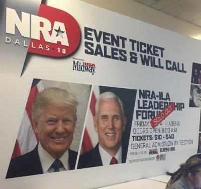 LIVE: Trump, Pence speak at NRA annual convention in Dallas