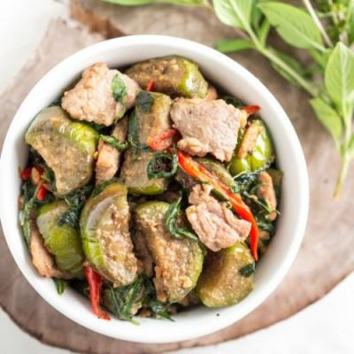 Eggplant Stir-Fried with Thai Basil
