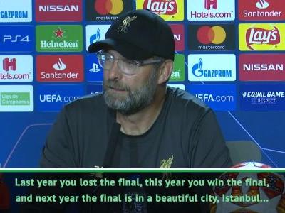 I've told UEFA will be in Istanbul final next year - Klopp