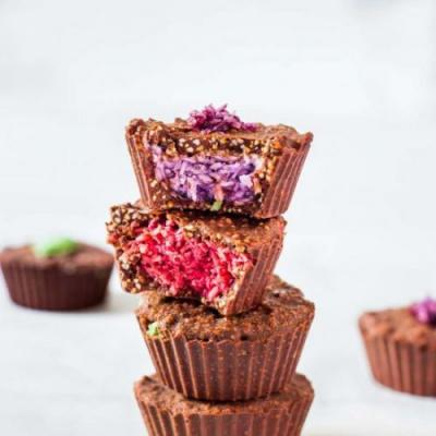 Rainbow Coconut Crunch Cups