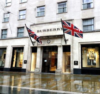 Luxury fashion house Burberry rises as much as 10% after issuing upbeat full-year outlook
