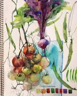 Paint & eat your veggies!