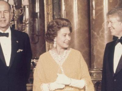 Historic photos show every time American presidents met British Kings and Queens