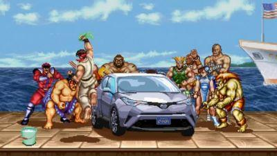 Watch Street Fighter's Ryu Hop A Toyota C-HR Over M.Bison's Psycho Crusher