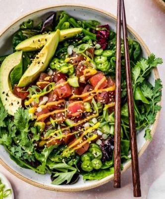 Mango and Tuna Poke Salad Bowl