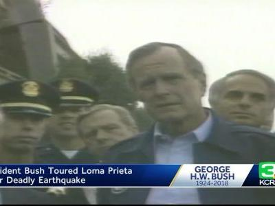 From the Archives: President Bush visits NorCal after Loma Prieta quake