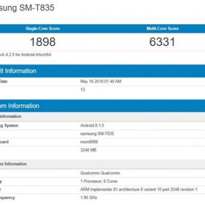 Alleged Samsung Galaxy Tab S4 Benchmarked With SD835