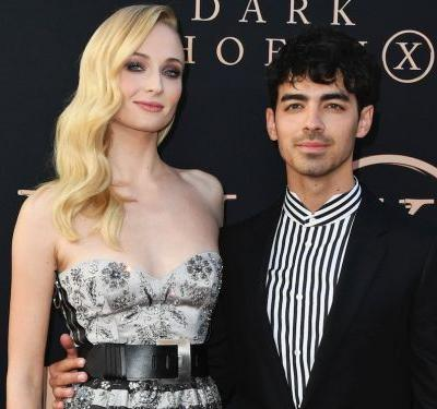 Sophie Turner and Joe Jonas wore matching stripes on the red carpet for the 'Dark Phoenix' premiere