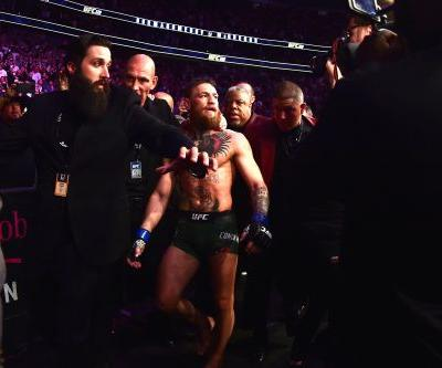 Conor McGregor taps out and post-match mayhem ensues