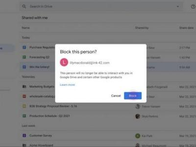 Google just released a new feature to fight annoying Google Drive spam