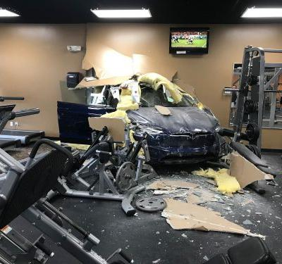 A Tesla Model X driver claims her car crashed into a gym after she hit the brakes - but similar incidents point to a different explanation