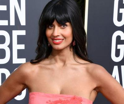 Jameela Jamil wore jeans under her Golden Globes gown