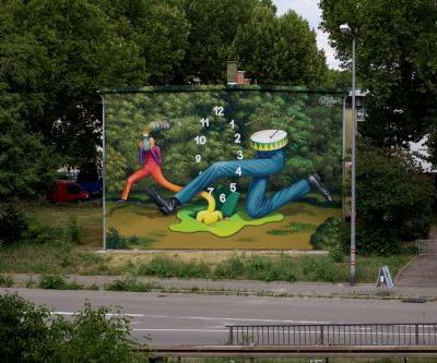 """Jump Through Time"" by Waone in Mannheim, Germany"