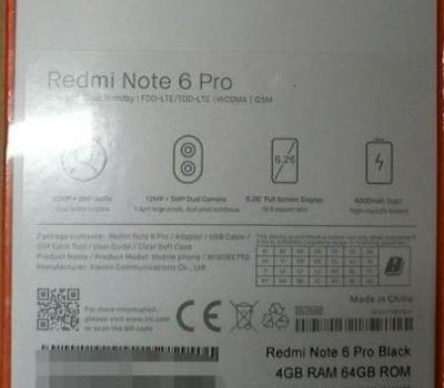 Alleged Xiaomi Redmi Note 6 Pro Box Leaked