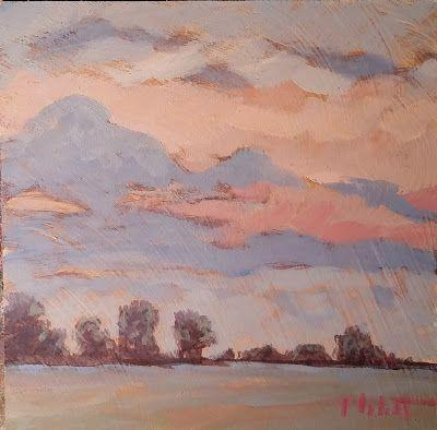 Landscape Oil Painting Sunset Original Art Heidi Malott