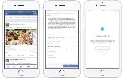 Facebook Users Will Soon Be Able to Apply for a Job Within iOS App and on Web