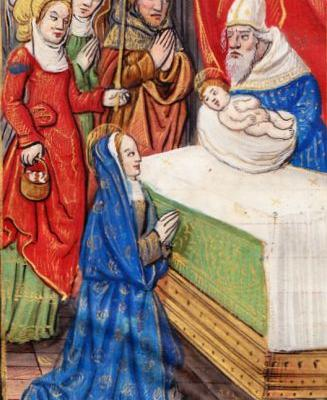 Morning Maonna - The Presentation of Jesus at the Temple from Illuminated Manuscripts