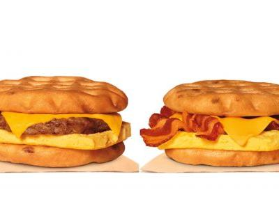 Burger King's Maple Waffle Sandwiches Will Be Your New Breakfast Treat Of Choice