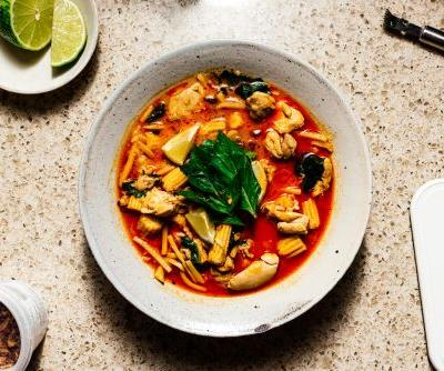 Thai Red Curry Chicken with Bamboo Shoots Recipe