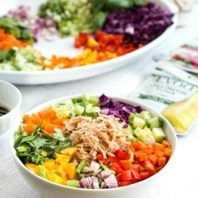 Low Carb Tuna Spring Roll Salad