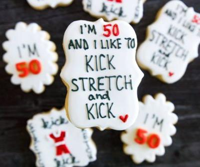 I'm 50! Sally O'Malley-themed birthday cookies