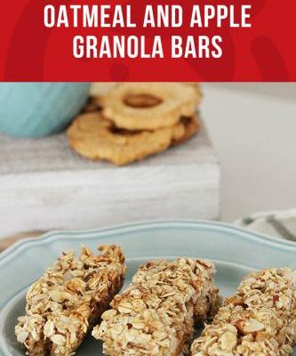 Oatmeal and Apple Granola Bars