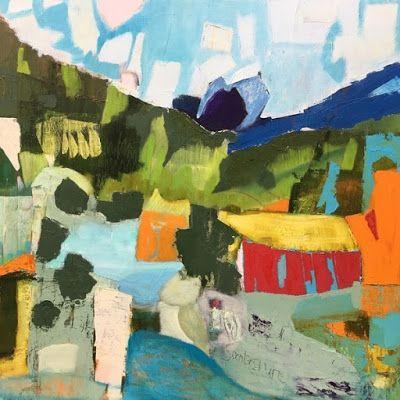 "Abstract Landscape, Contemporary Art, Abstract,Expressionism, Studio 9 Fine Art ""On an Eastern Slope"" by International Abstract Artist Amanda Saint Claire"