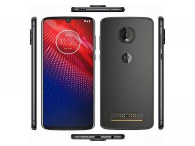 Motorola Moto Z4 renders show off returning Moto Mod support, teardrop notch, headphone port