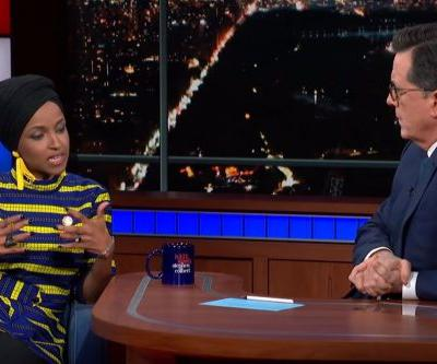 Ilhan Omar stays mum on 9/11 comments, complains of double standard on 'Colbert'