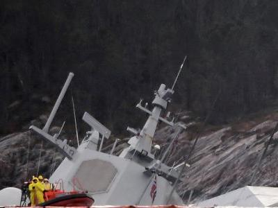 Norwegian frigate sinks after it was rammed by tanker