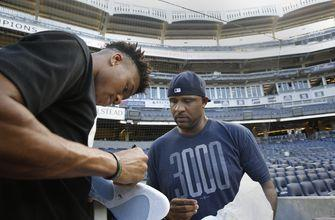MVP Antetokounmpo gives baseball a shot at Yankee Stadium