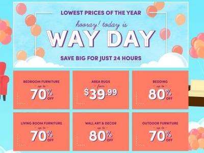 Wayfair's 24-hour 'Way Day' sale promises prices as low as on Black Friday - here are the best deals