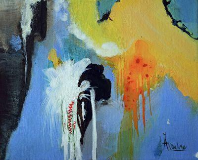 """Contemporary Abstract Expressionist Art Painting """"Mirroring Sweet Reflections"""" by International Contemporary Abstract Artist Arrachme"""