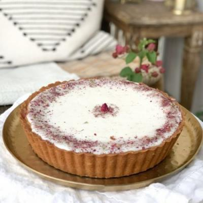 Strawberry Rose Bakewell Tart