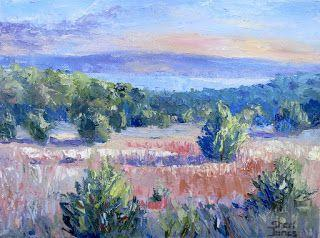View from the Hood, New Contemporary Landscape Painting by Sheri Jones