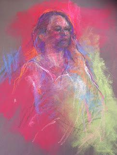 RED SKETCH - pastel on paper by Susan Roden