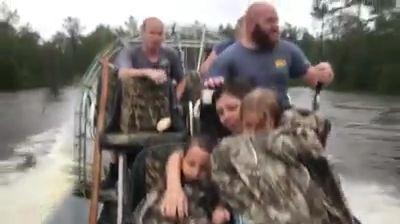 'Miracle save': Pregnant woman rescued from Florence floodwaters by airboat company