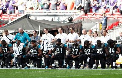 Wave of anthem protests across NFL as Trump clashes with players & owners