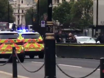 Several people have been injured and police arrested a suspect after a car crashed near the UK Houses of Parliament