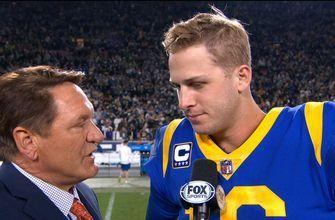 Jared Goff explains his 4th down run that sealed the game for the Rams