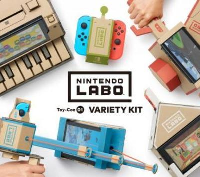 Nintendo Labo Papercraft Toy-Con Kits Announced for Switch