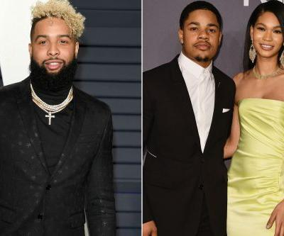 Odell Beckham hangs with Sterling Shepard and wife ahead of Browns intro