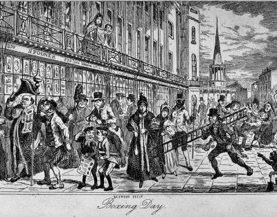 A Brief History of Boxing Day in Britain - Saint Stephen's Day with charitable boxes