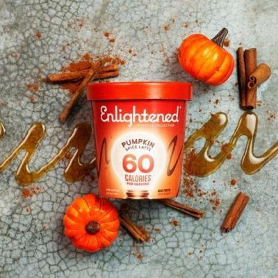 Enlightened's Pumpkin Spice Latte Ice Cream Is Your Transition From Summer To Fall