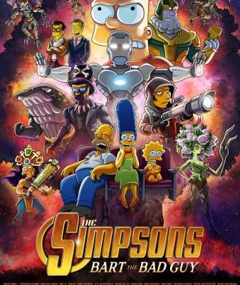 """THE SIMPSONS Unveils Official AVENGERS-Inspired Poster For Upcoming """"Bart The Bad Guy"""" Episode"""